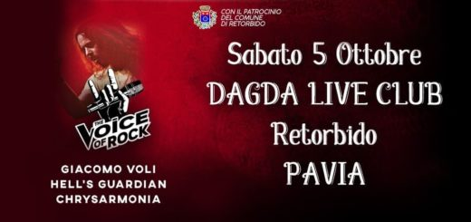 THE VOICE OF ROCK: il 5 Ottobre serata al DAGDA LIVE CLUB con GIACOMO VOLI in ricordo dell'attentato di NIZZA