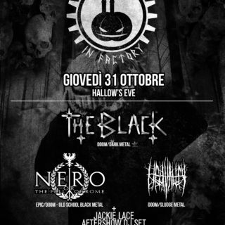 HALLOW'S EVE THE BLACK la notte del 31 Ottobre al THE FACTORY!