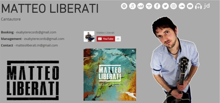 Matteo Liberati e la sua musica...