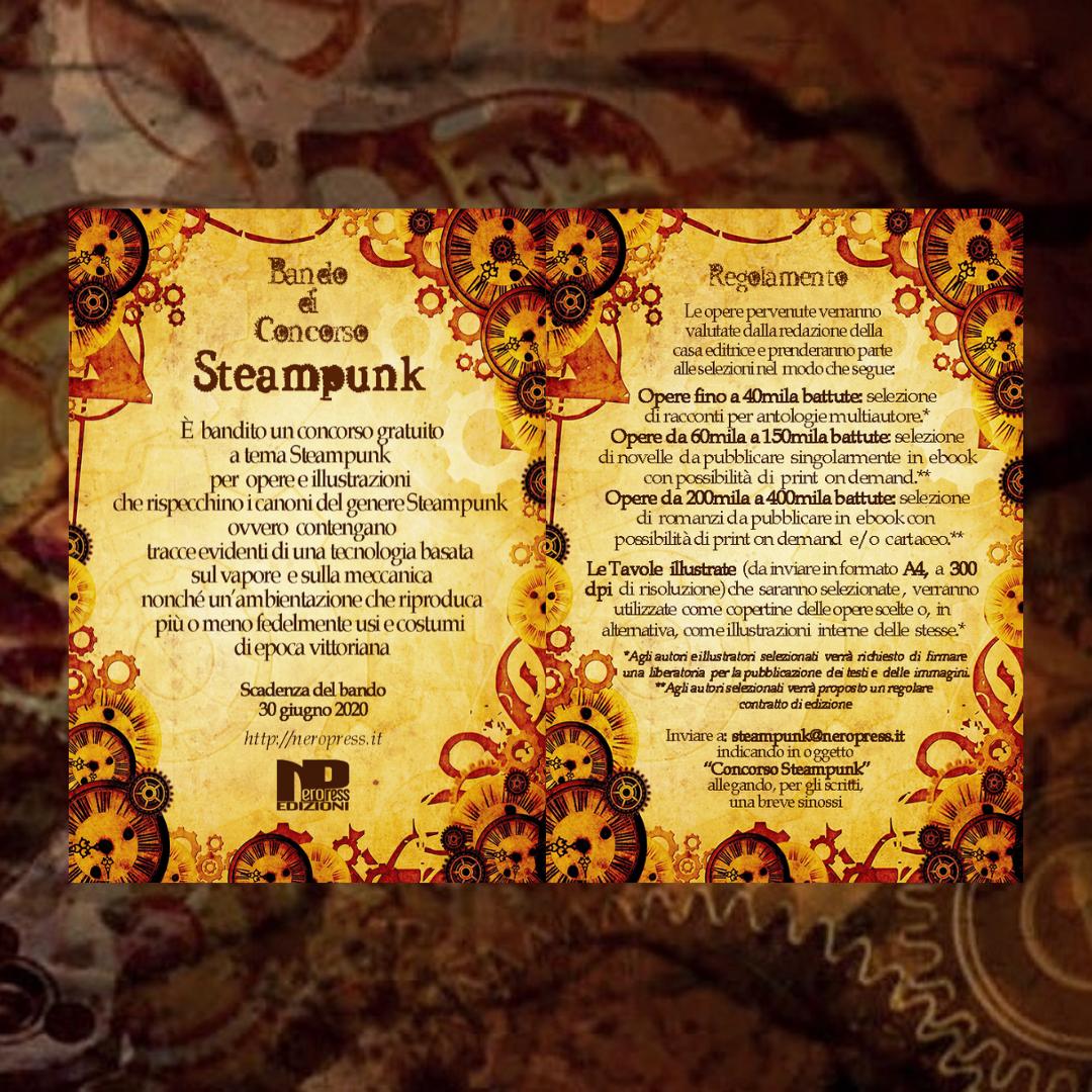 """""""Concorso Steampunk"""": primo concorso per arte e letteratura steampunk"""